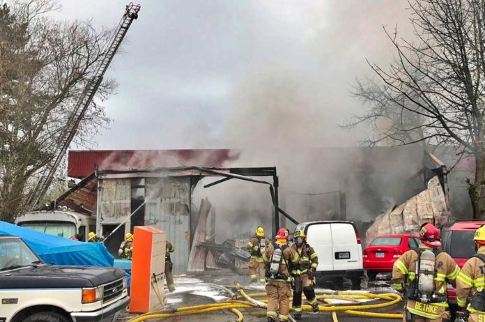 Tigard Auto Shop Fire