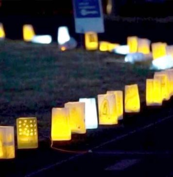 2017 Tigard/Tualatin Relay for Life Luminaria Ceremony.
