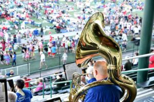 Tualatin Valley Community Band performing at last year's Old-fashioned 4th of July Celebration.