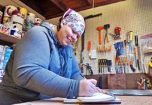 Cindy Seger in her workshop.