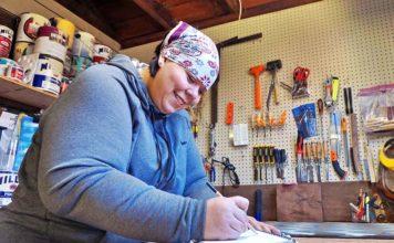 Cindy Seger in her workshop.