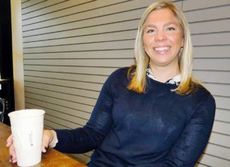 Heidi Lueb and her husband Brian moved to Tigard three years ago from Texas, and one of her favorite spots in the city is Primo Espresso, a neighborhood coffee shop close to their home.