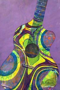 painted Guitar, Liz Walker