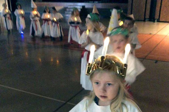 St. Lucia procession.