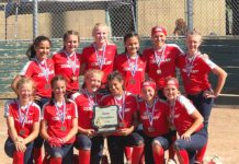 12u bat company team, silver bullets, softball oregon state champion