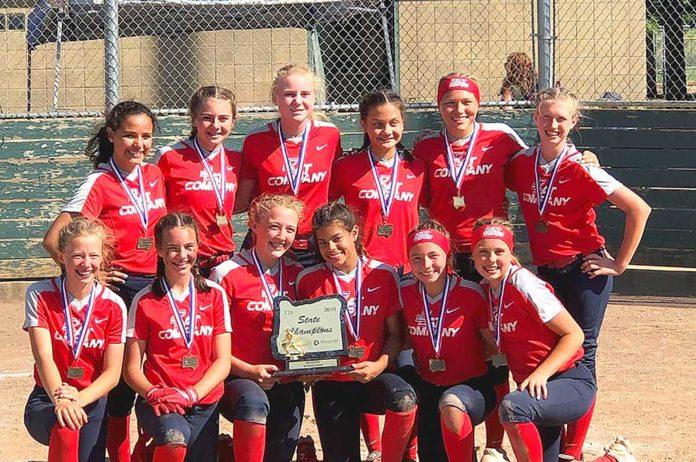 12u bat company team, silver bullets, softball oregon state champion