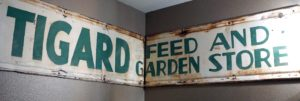 historic feed and garden store sign, symposium