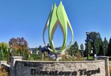 Downtown Tigard's Corylus Sculpture