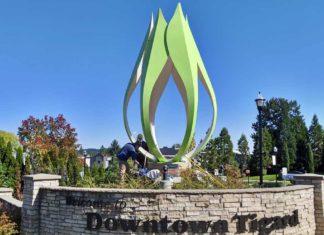 Downtown Tigard's Corylus Sculpture