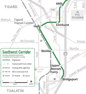 light rail, southwest corridor light rail project
