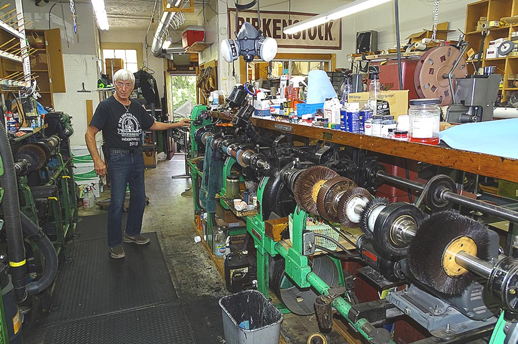 Don Myers has a lot of machinery in his New Shoes shop that he is willing to train someone on to keep his legacy alive and his shoe repair business going.