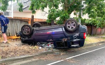 A rollover crash occurred on Bull Mountain on June 30.
