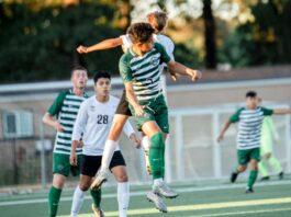 Jair Nunez Acosta battles for the ball with Tualatin's Leo Fulcher