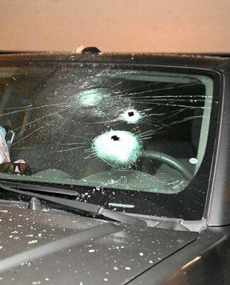 Police evidentiary photos show Jacob Macduff's pickup truck.